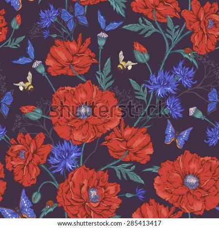 summer vintage floral seamless
