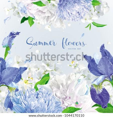 summer vintage floral vector