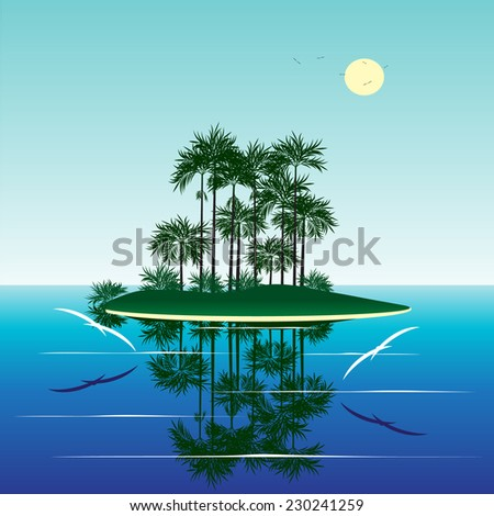 summer water and the island