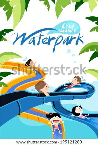 Summer water park frame