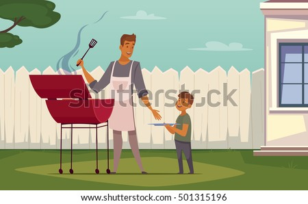 summer weekend barbecue on