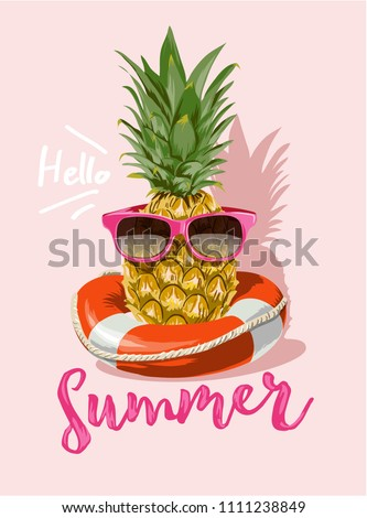 summer with pineapple in