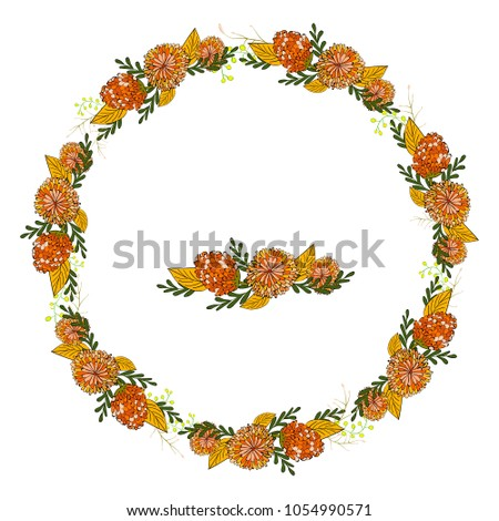 summer wreath with with bright
