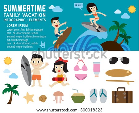 summertime on the beach family