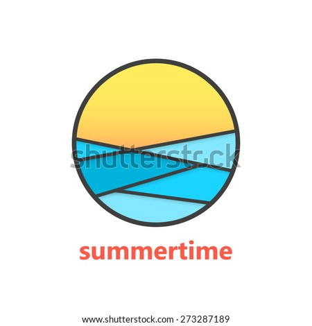 summertime sign with waves and