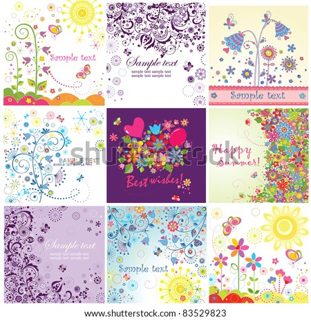 Summery greeting cards