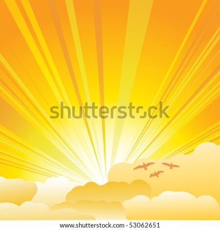 sun and clouds background