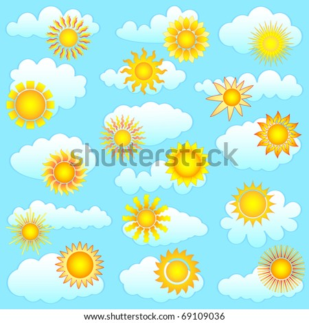 sun and clouds collection