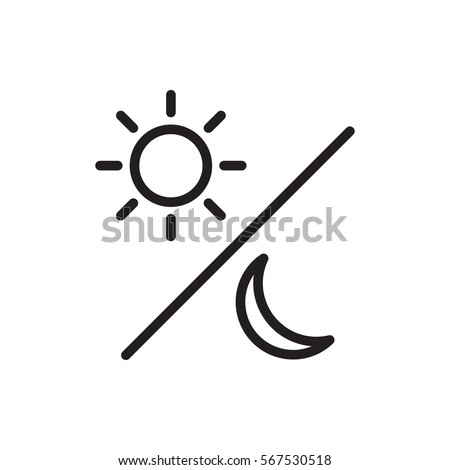 sun and moon icon illustration isolated vector sign symbol