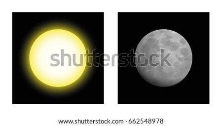 sun and moon   symbolic