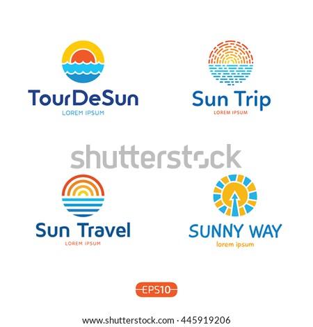 sun and sea logo design