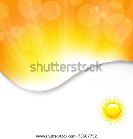 Sun Background, Vector Illustration