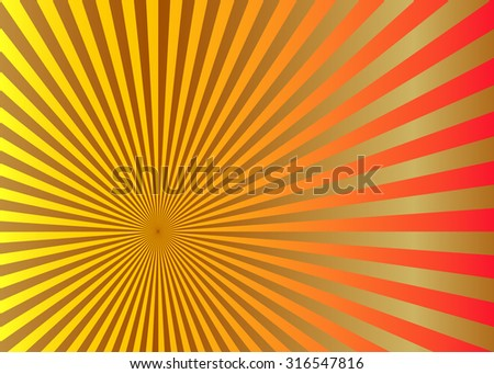 sun beam in yellow gold color
