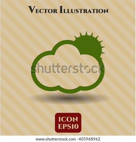 Sun Behind Cloud high quality icon