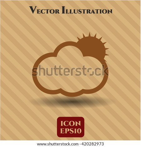 Sun Behind Cloud icon or symbol
