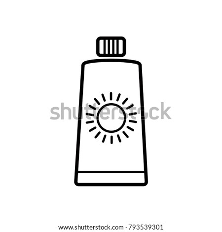 sun block icon vector