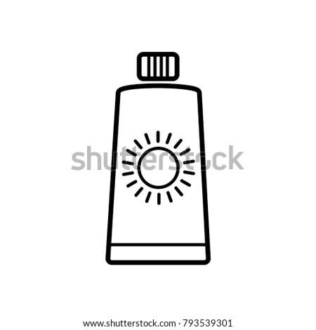 sun block icon vector