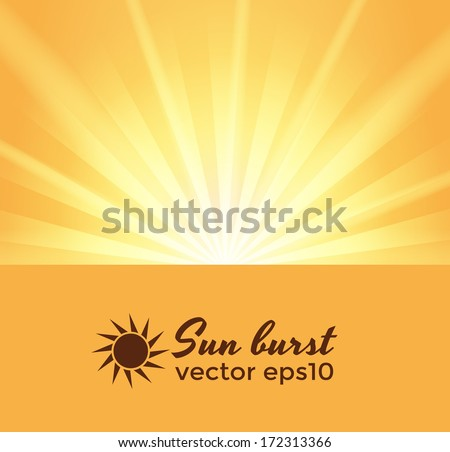 sun burst background with space