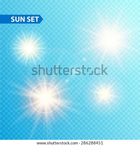 sun burst collection vector