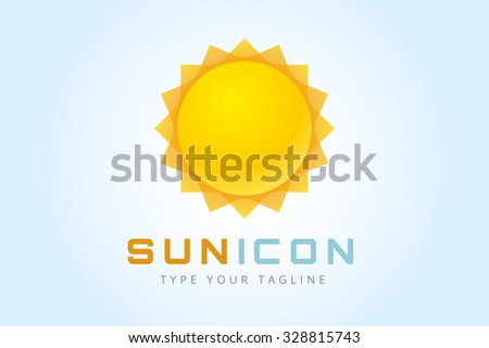 sun burst star logo icon sun