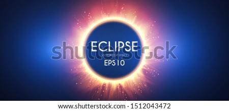 sun eclipse fire light effect