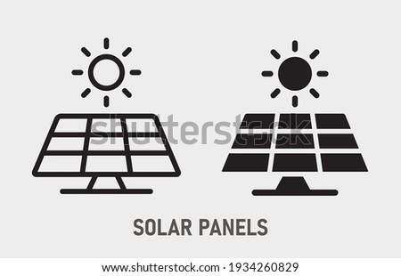 Sun energy icon. Vector illustration isolated on white.