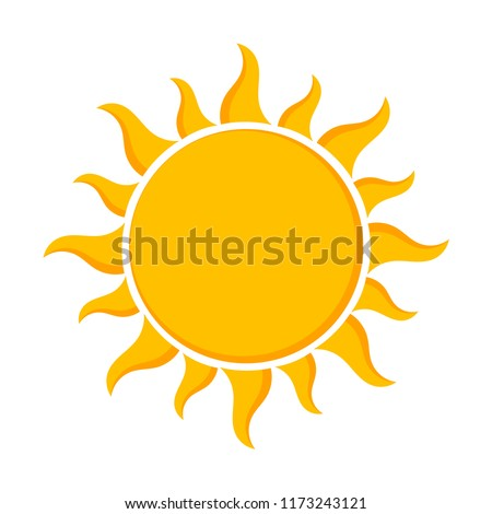 Sun - flat design icon. Vector illustration