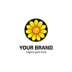 Sun flower logo icon symbol
