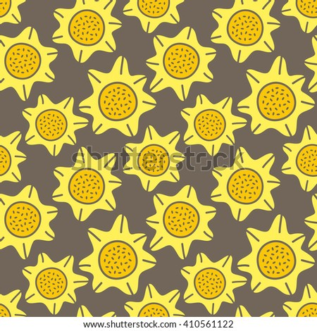 sun flower seamless background