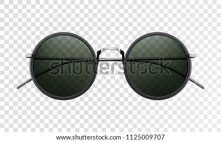 Sun glasses isolated on a transparent background Vector illustration 3D realistic eps10