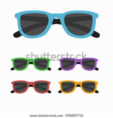 Sun glasses set vector illustration.