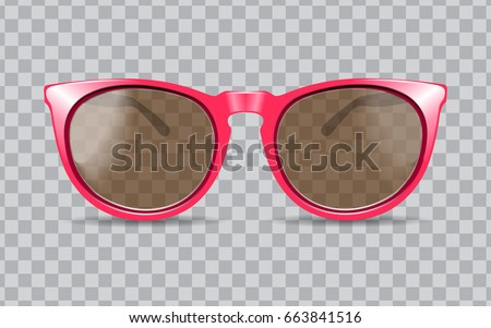 sun glasses vector illustration 3D realistic