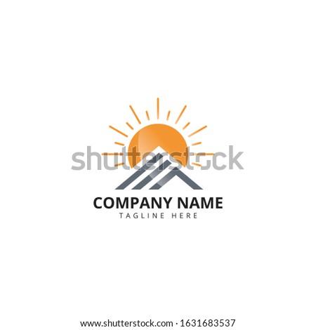 sun house logo design real