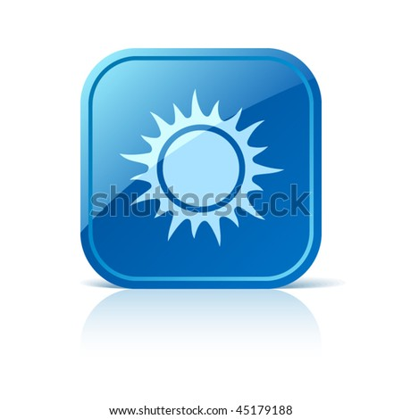 Sun icon - stock vector