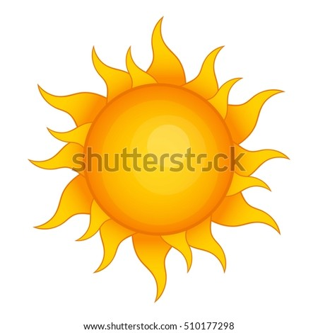 sun icon cartoon illustration