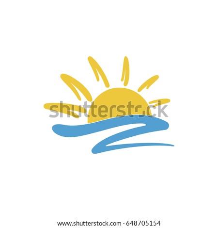 sun icon creative logo design