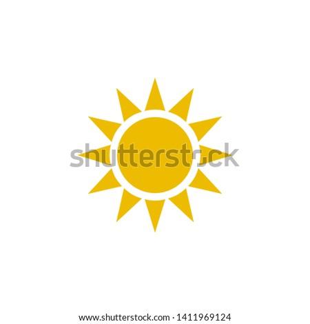 sun icon design template. Trendy style, vector eps 10
