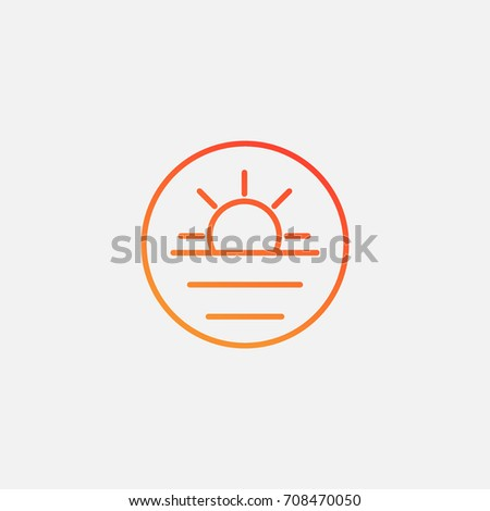 sun icongradient illustration