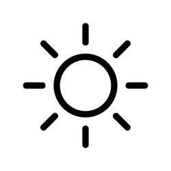 sun icon or logo isolated sign symbol vector illustration - high quality black style vector icons