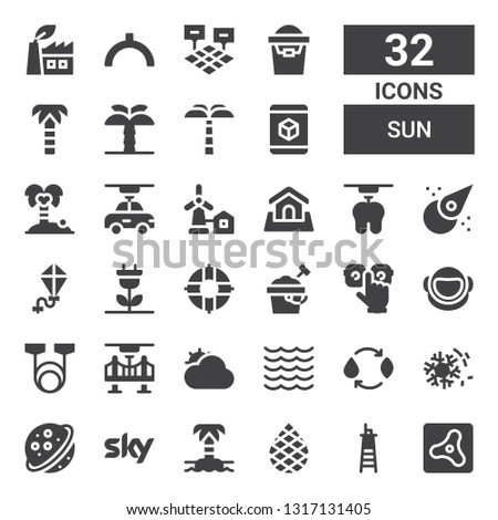 sun icon set collection of 32