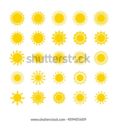 sun icon set sun burst star