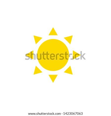 sun icon; sun symbol; sun