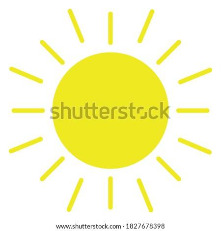 sun icon symbol vector design logo illustration isolated on white background. eps 10