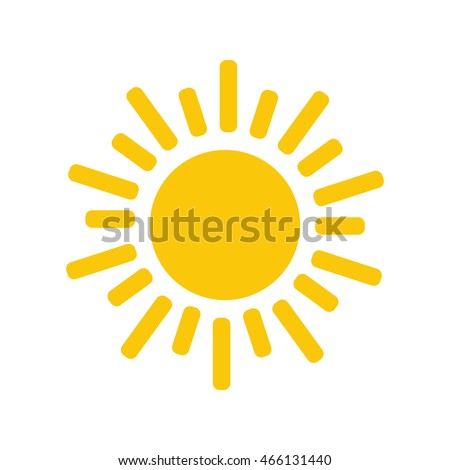 Sun icon. Trendy vector summer symbol for website design, web button, mobile app.
