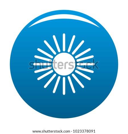sun icon vector blue circle