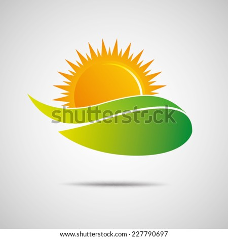 sun icon vector creative design