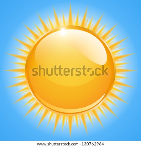 Sun icon, vector illustration