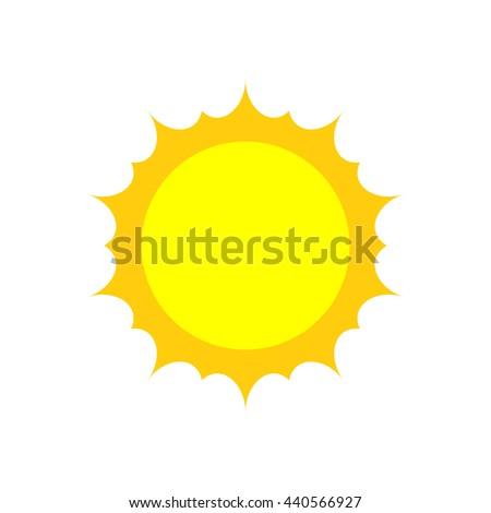 sun icon vector logo flat