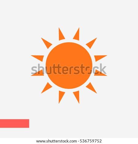 sun icon vector, weather