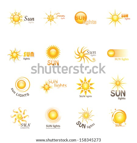 sun icons set   isolated on